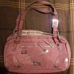 Pink shabby shrek guess purse